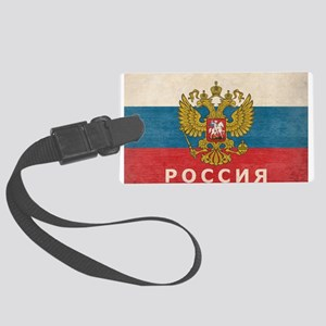 Vintage Russia Large Luggage Tag