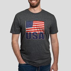 USA Flag Mens Tri-blend T-Shirt