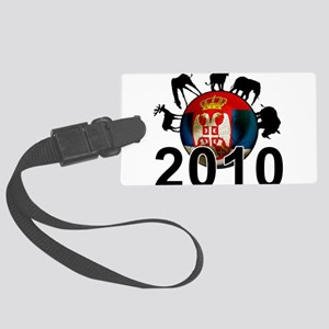 Serbia World Cup 2010 Large Luggage Tag
