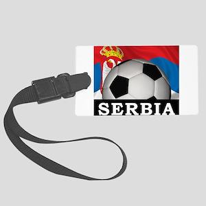 Football Serbia Large Luggage Tag