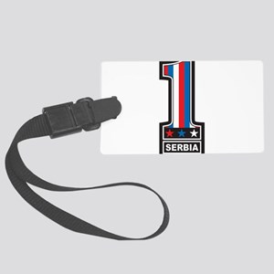 Number One Serbia Large Luggage Tag