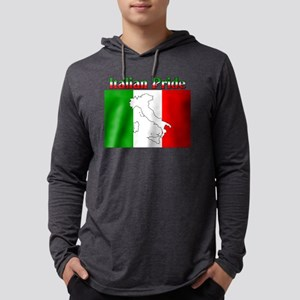 Italian Pride black Mens Hooded Shirt