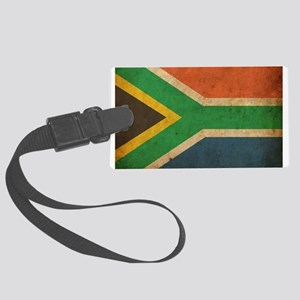 Vintage South Africa Flag Large Luggage Tag