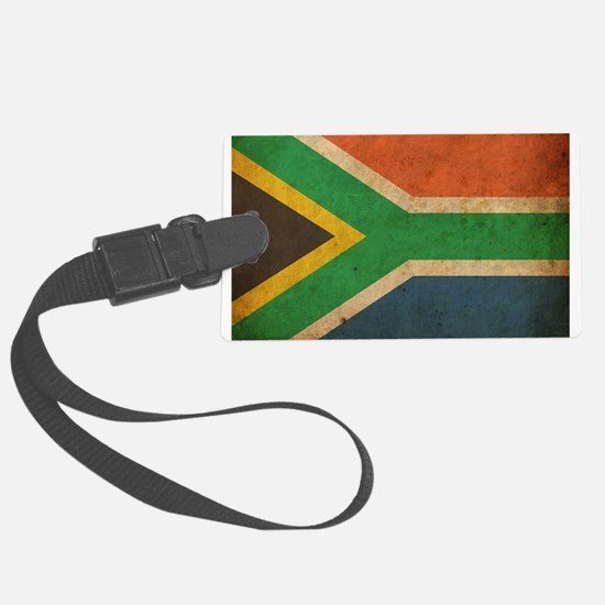 Vintage South Africa Flag Luggage Tag