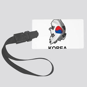 Map Of Korea Large Luggage Tag