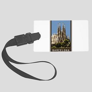 Barcelona Sagrada Familia Large Luggage Tag