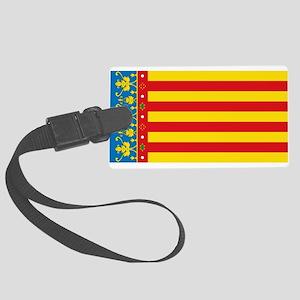 Valencia Flag Large Luggage Tag