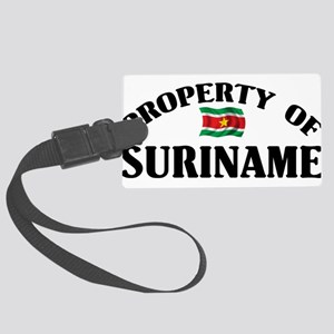 Property Of Suriname Large Luggage Tag