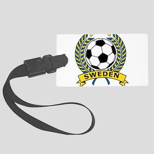 Soccer Sweden Large Luggage Tag