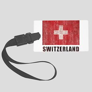 Vintage Switzerland Large Luggage Tag