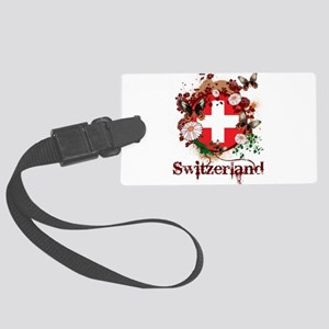Butterfly Switzerland Large Luggage Tag