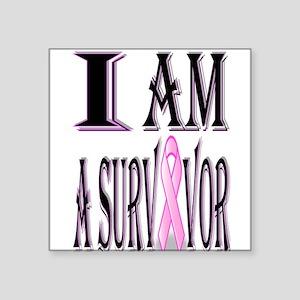 "Survivor Square Sticker 3"" x 3"""