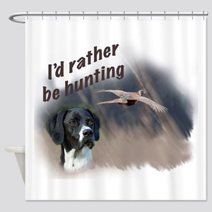 hunting_english_pointer Shower Curtain