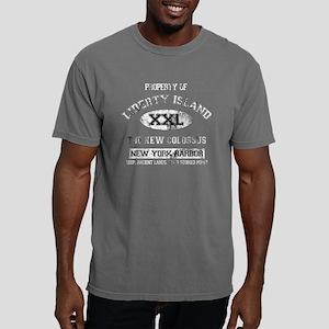 liberty island dark Mens Comfort Colors Shirt