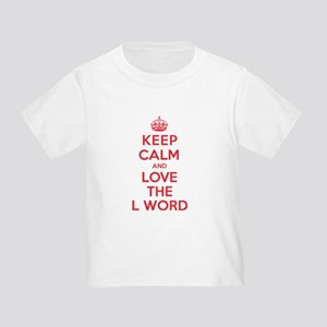 K C Love the L Word Toddler T-Shirt