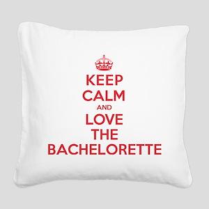 K C Love the Bachelorette Square Canvas Pillow