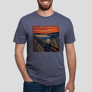 3pilwNtxt-munche-scream Mens Tri-blend T-Shirt