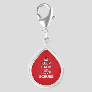 K C Love Scrubs Silver Teardrop Charm