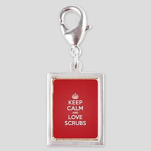 K C Love Scrubs Silver Portrait Charm