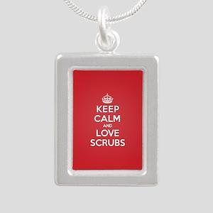 K C Love Scrubs Silver Portrait Necklace