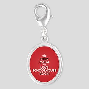 K C Love Schoolhouse Rock Silver Oval Charm