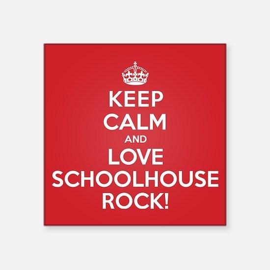 "K C Love Schoolhouse Rock Square Sticker 3"" x 3"""