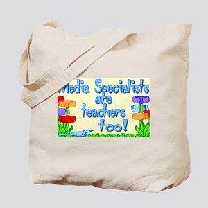 Media Specialists Flowers Tote Bag