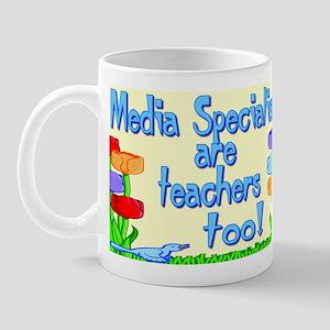 Media Specialists Flowers Mug