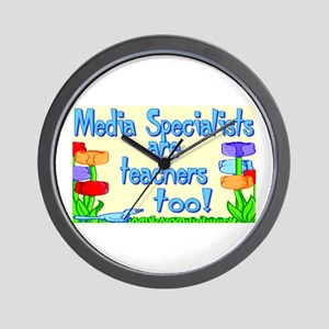 Media Specialists Flowers Wall Clock