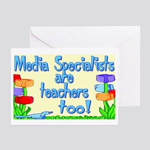 Media Specialists Flowers Greeting Cards (Package