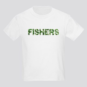 Fishers, Vintage Camo, Kids Light T-Shirt