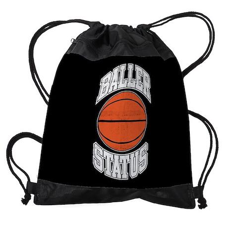 Basketball Baller Status Drawstring Bag