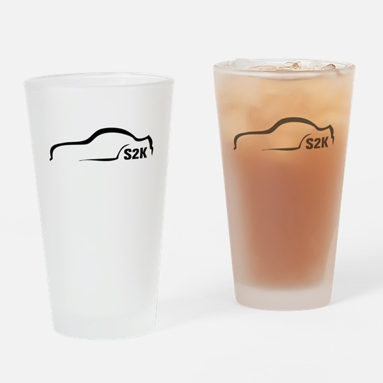 Sk2 Black silhouette Drinking Glass