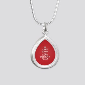 K C Love Melrose Place Silver Teardrop Necklace