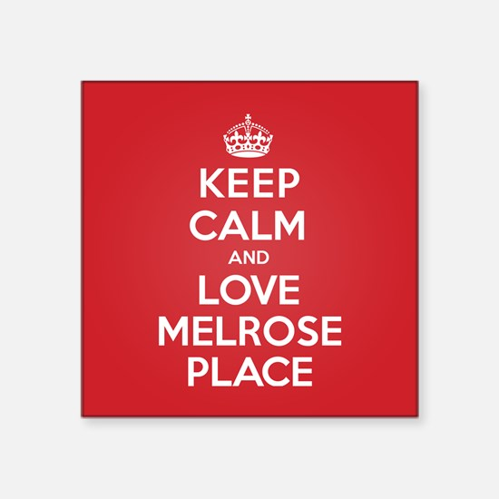 "K C Love Melrose Place Square Sticker 3"" x 3"""