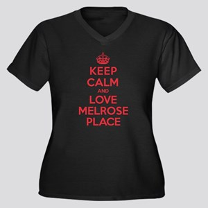 K C Love Melrose Place Women's Plus Size V-Neck Da