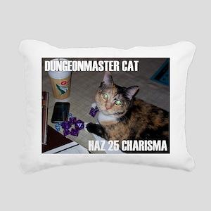 Dungeonmaster Cat Rectangular Canvas Pillow