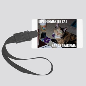 Dungeonmaster Cat Large Luggage Tag