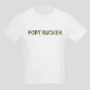 Fort Rucker, Vintage Camo, Kids Light T-Shirt