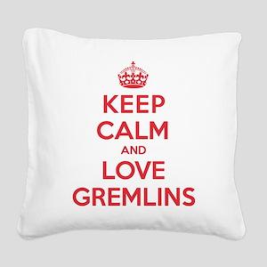 K C Love Gremlins Square Canvas Pillow