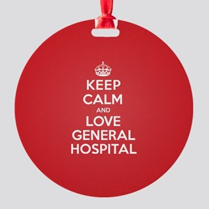 K C Love General Hospital Round Ornament