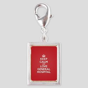 K C Love General Hospital Silver Portrait Charm