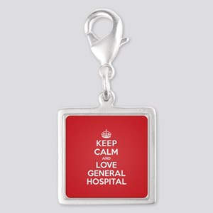 K C Love General Hospital Silver Square Charm