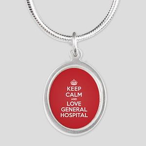 K C Love General Hospital Silver Oval Necklace