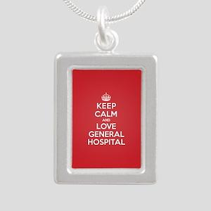 K C Love General Hospital Silver Portrait Necklace
