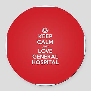 K C Love General Hospital Round Car Magnet