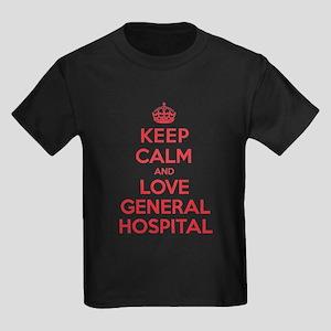 K C Love General Hospital Kids Dark T-Shirt