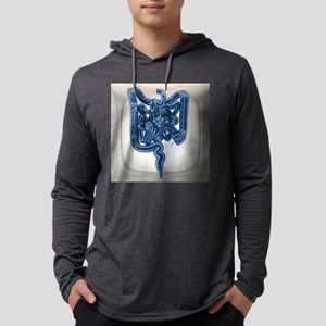 Small and large intestines, artw Mens Hooded Shirt