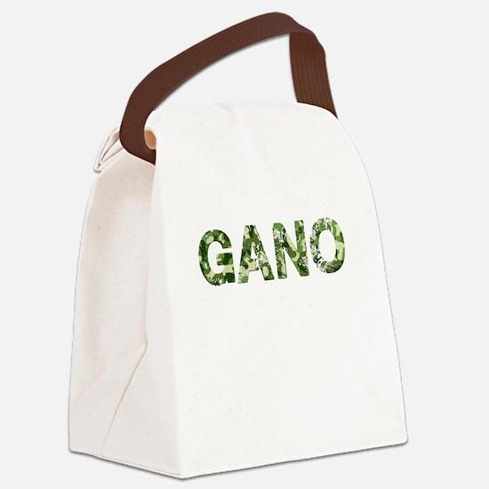 Gano, Vintage Camo, Canvas Lunch Bag