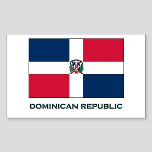 The Dominican Republic Flag Stuff Sticker (Rectang